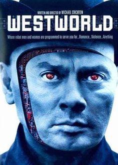 "The 1973 Michael Crichton written & directed film ""Westworld"" starring Yul Brynner, Richard Benjamin and James Brolin Series Movies, Blu, Movies, Movie Tv, Sci Fi Thriller, Yul Brynner, Michael Crichton, Westworld, Hbo"