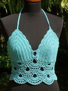 Mujeres en Bikini bikiní del ganchillo Crochet Backless por Tanelly