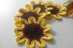 Mari Martin: Portavasos de Flores Amarillas - Yellow Flowers Coaster
