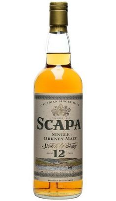 Scapa 12 year old single malt scotch whisky Scotch Whiskey, Bourbon Whiskey, Hard Drinks, Alcohol Bottles, Single Malt Whisky, Distillery, Alcoholic Drinks, Brewing Equipment, Wine Pairings