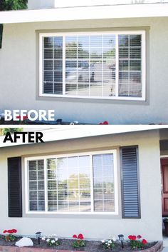 Before and after full-louvered, cast stone foam Exterior Shutters: what a difference! Add curb appeal to your home with some Exterior Shutters installed by Classic! We will custom make them to suit your home, and the features are practically endless. Go to www.CHIproducts.com or call (866) 567-0400 for more information! Installation cities include Pacific Palisades and Sherman Oaks, California.