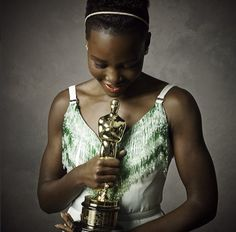 Lupita Nyong'o at the Vanity Fair party. #Oscars Love what this woman stands for! Such an inspiration
