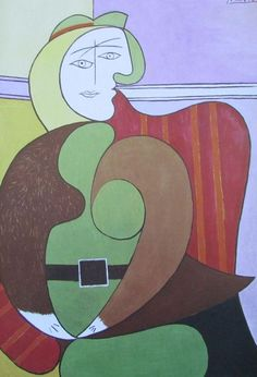 Der rote Sessel PABLO PICASSO Kunstdruck Reproduktion Surrealismus