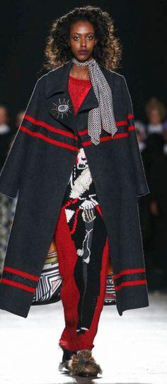 Vera Munyangaju wearing Stella Jean AW16 MFW