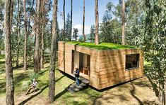 This wooden house nestled in a forest in Ecuador aims to prove the country's traditional-techniques are superior to many contemporary housing models when it comes to ecological footprint, social, economic and energy performance.