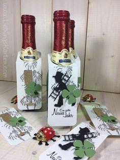 "Gastgeschenke zur Silvesterparty ""Piccolo-Flaschenanhänger"" - Lieblingskarten"