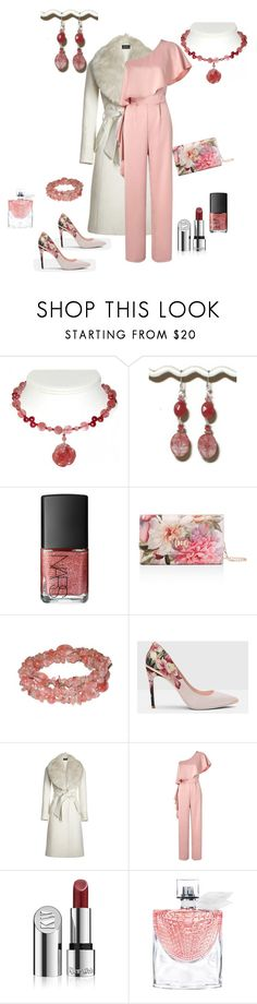 """Elegant Woman"" by angiesheldesigns ❤ liked on Polyvore featuring NARS Cosmetics, Ted Baker, Sentaler, Miss Selfridge, Kjaer Weis, Lancôme, jumpsuit and statementjewelry"