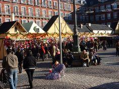 Madrid / Kerstmarkt op de Plaza Mayor