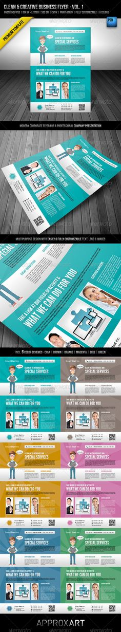 Clean & Creative Business Flyer - Vol. 1  #GraphicRiver