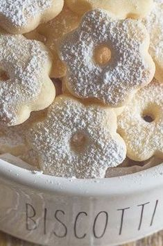 Canestrelli is a wonderfully delicious Italian Cookie, an almost shortbread type cookie but with a crunch. This fast and easy cookie recipe is The perfect afternoon tea or anytime cookie. A touch of lemon makes this easy cookie recipe irresistible. #Italiancookies #canestrelli