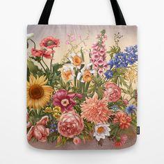 Flowers Tote Bag by Irina Vinnik - $22.00