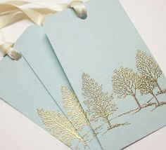 Gold Embossed Tree Tags