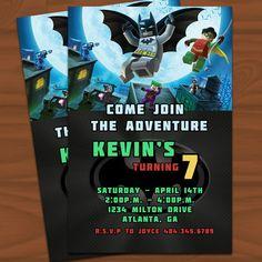 Lego Batman Invite. Love it!