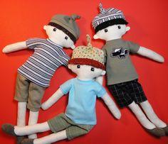 Zak - Cloth doll pdf pattern