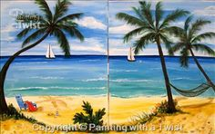 PARADISE -MIDNIGHT MADNESS COUPLES WINE TASTING - Fort Lauderdale, FL Painting Class - Painting with a Twist