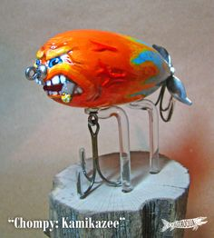 Chompy: Kamikazee — The Chautauqua Bait Company – Famous Last Words Homemade Fishing Lures, Vintage Fishing Lures, Fishing Rigs, Fishing Bait, Fishing Tackle, Fishing Shop, Sea Fishing, Freshwater Sharks, Pesca Spinning