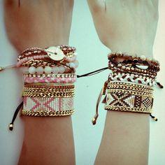 ♡ Bead loom bracelets #Kozi #Manchette #Loom