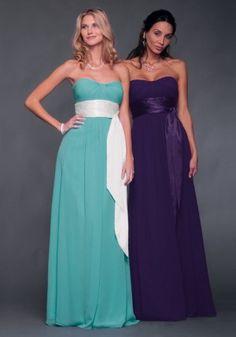 Simple Design Sheath Strapless Sweetheart Sash Formal Dresses