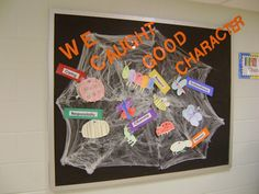pillars of character bulletin board ideas | We use the 6 character traits at our school. This bulletin board ...