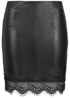 TopShop Womens **Faux Leather Skirt by Goldie - Black