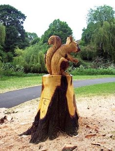 Veverka ze dřeva