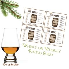 Printable Whiskey or Whisky Rating Cards
