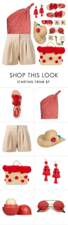 """Untitled #2286"" by countrycousin ❤ liked on Polyvore featuring Kate Spade, Rosie Assoulin, Boutique Moschino, Capelli New York, Nannacay, Eos, ZeroUV and Rock 'N Rose"
