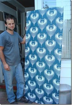 How to make a large wallpaper frame - great tutorial for inexpensive frame through wholesaleposterframes.com