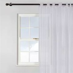 Natural light filters beautifully through these delicate voile curtains, a light touch to a contemporary home. Made from lightweight and durable fabric these curtains evoke feelings of calm, contented easy living. Voile Curtains, Light Touch, Simple Living, Natural Light, Contemporary, Room, House, Home Decor, Bedroom