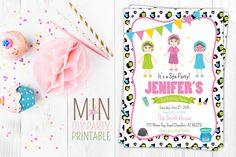 Spa Birthday Invitation, Spa Birthday, Spa Invitation, Girls Birthday, Girls Spa Invitation, Girls Day Out, Spa, Spa Days, Spa Invite, SPA by minprintable on Etsy https://www.etsy.com/listing/255168470/spa-birthday-invitation-spa-birthday-spa