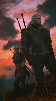 《The Witcher Wild Hunt / Geralt of Rivia and Ciri》 The Witcher 3, The Witcher Wild Hunt, Witcher Art, Ciri Witcher, Fantasy World, Fantasy Art, Geralt And Ciri, Character Inspiration, Character Art