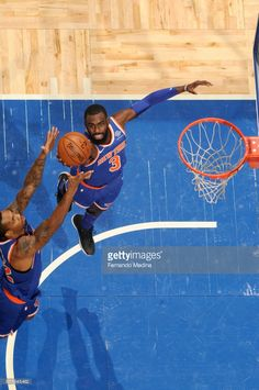 News Photo : Tim Hardaway Jr. #3 of the New York Knicks grabs...