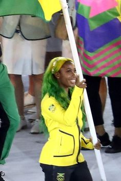 Jamaican Flagbearer Shelly-Ann Fraser-Pryce's Ombre Hair Wins Olympic Gold From Twitter