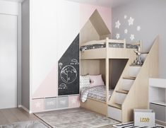 Kid Bedrooms, cute bedroom decor idea reference 2541035164 - Impressive room styling tips to kick-start a really exciting and awesome room. Kids Bedroom Designs, Bunk Bed Designs, Kids Room Design, Interior Design Living Room, Nursery Design, Interior Decorating, Baby Nursery Furniture Sets, Kids Bedroom Furniture, Baby Room Decor