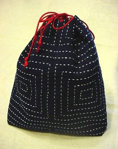 Patchwork Pouch with straight stitch by aya*studio, via Flickr