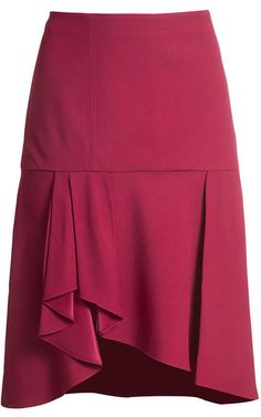 Perfect Skirt for office or going out in Types Of Skirts, Red Skirts, Mini Skirts, Fashion Moda, Womens Fashion, Bustier, Couture, African Dress, Skirt Outfits