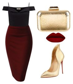 """brave goreba"" by hilorine on Polyvore featuring Lipsy, Christian Louboutin and KOTUR"