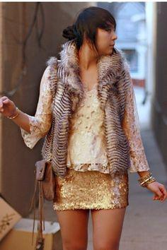 Sequin Skirt. Yes please! @Shasta Mitchell