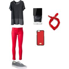 Red and Grey by smith-emily-1 on Polyvore featuring Chanel, Love Moschino, Vans, Dolce&Gabbana, Zara and Butter London