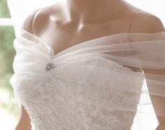 Bridal Wrap, Wedding Cover Up, Wedding Shrug, Bridal Bolero in silk tulle white or ivory bridal shawl. Can be worn two ways! Wedding Shrug, Fairy Wedding Dress, Bridal Bolero, Wedding Dress Sleeves, Dream Wedding Dresses, Bridal Dresses, Wedding Gowns, Lace Cover Up Wedding, Bridal Cover Up