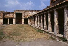 *POMPEII, ITALY ~ Ruins of the Basilica, Pompeii (UNESCO World Heritage List, 1997), Campania, Italy. Roman civilisation, 2nd century BC. Pompeii And Herculaneum, Roman City, Southern Italy, Historical Architecture, Archaeological Site, Roman Empire, Villas, Places Ive Been, Abandoned