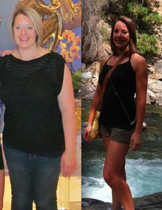 Before and after pic from juice fast / cleanse, check out her blog! She's super inspiring!