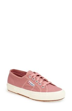 Superga 'Cotu' Slip-On Sneaker (Women) at Nordstrom.com. A classic contrast sole sets off a low-profile sneaker branded with logo-embossed eyelets. Dusty Rose