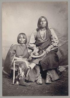 Chief Trotting Wolf and Wife. Var: Gu-ee-ah-pay; Coyote Walking. (Nye: 370-371; Belous/Weinstein: 46.)