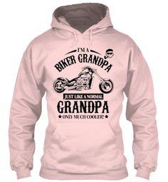Biker Grandpa Hoodie On Sale $32 Only Light Pink