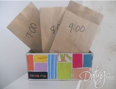 Check out this Countdown to New Years Eve Box - this is a great idea – a new activity each hour.