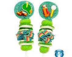10 brochetas de dulces de arco iris por SweetsIndeed en Etsy
