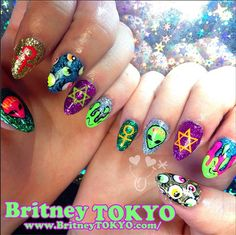 Coachella nail art by britney tokyo tokyo nail artist creator designer im japanese living in los angelesca prinsesfo Images