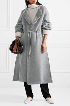 The Row   Mani merino wool-blend felt coat   NET-A-PORTER.COM