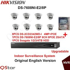 (1288.00$)  Watch here  - Hikvision Original English Indoor Surveillance System 8pcs DS-2CD2342WD-I 4MP IP Camera POE+6MP Recording NVR DS-7608NI-E2/8P